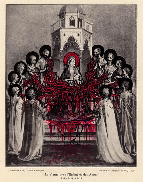 La Vierge avec l'Enfant et des Anges