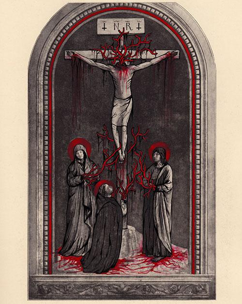 Le Christ en croix, la Vierge, Saint Jean et Saint Dominique