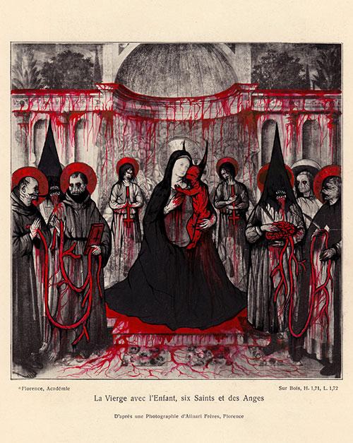 La Vierge avec l'Enfant, six Saints et des Anges
